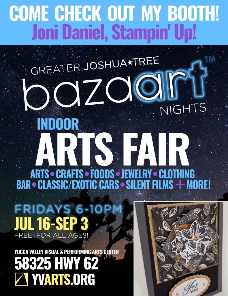 This image has an empty alt attribute; its file name is Bazaart-Nights-Flyer-—-Joni-Daniel-Stampin-Up-791x1024.jpg